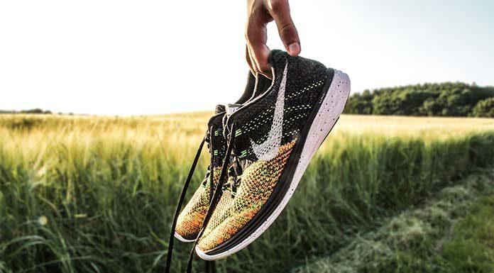 Sportowe buty w eleganckiej stylizacji